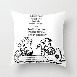 I Hear Banjos  Throw Pillow