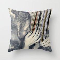 mrs. Vinyl Throw Pillow