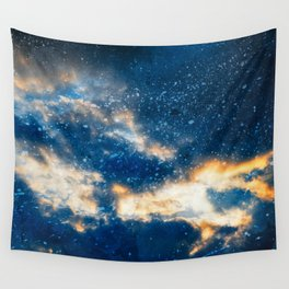 Glowing Acrylic Clouds Wall Tapestry