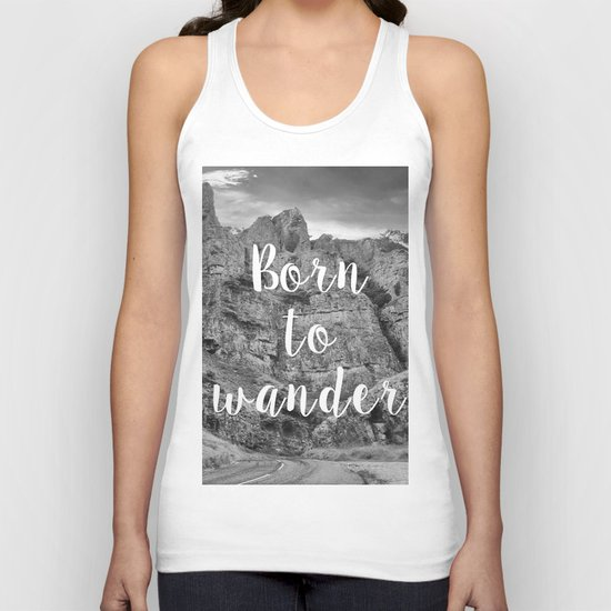Born To Wander Unisex Tank Top