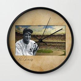 Baseball Vintage Lou Gehrig Wall Clock