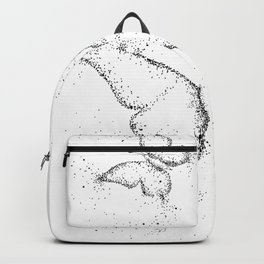 Doodle Butterflies Black and White Backpack