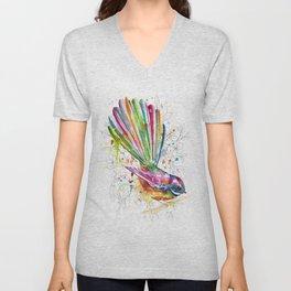 Sketchy Fantail Unisex V-Neck