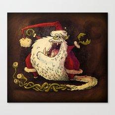 Santa Claws! Canvas Print