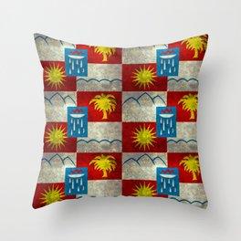 Sochi flag - Vintage version Throw Pillow