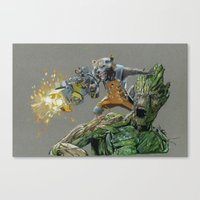 guardians Canvas Prints featuring Guardians by theMAINsketch