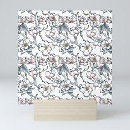 Magnolia Pug Mini Art Print