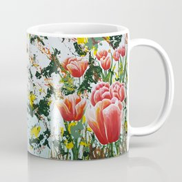 Edge of a tulip garden Coffee Mug