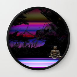 Solitude by Kenny Rego Wall Clock
