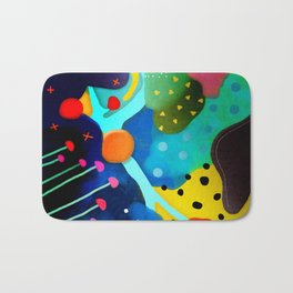 Abstract Art - Lagoon mushrooms rupydetequila amazonia dots cheetah Bath Mat