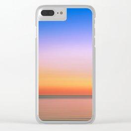 Rainbow Sunset Print Clear iPhone Case
