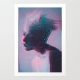 anaglych_2.0_32 Art Print