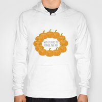 pie Hoodies featuring Pumpkin Pie by Laura Maria Designs