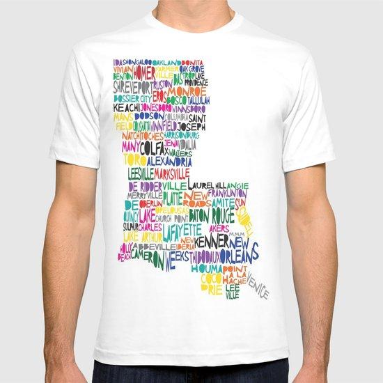 Louisiana Typography T-shirt