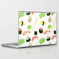 nori Laptop & iPad Skins featuring sushi time! by Space Bat designs