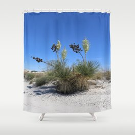 White Sands Dune With Soap Yucca Shower Curtain