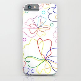 Colorful flower design iPhone Case