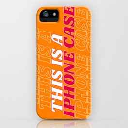 this is a… iPhone Case