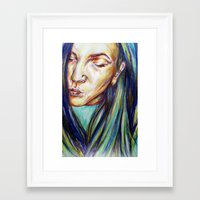 leah flores Framed Art Prints featuring Leah by Chloe Gibb