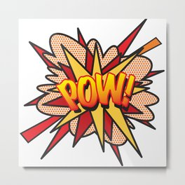 POW Comic Book Flash Pop Art Retro Cool Graphic Metal Print