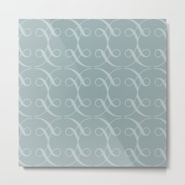 Swashes in Dusty Teal Metal Print