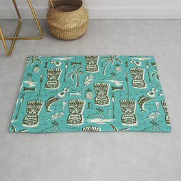 Tropical Tiki - Aqua Rug