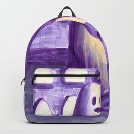 ghost and dog horror painting Backpack