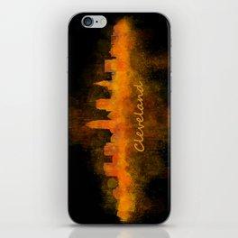 Cleveland City Skyline Hq V4 iPhone Skin