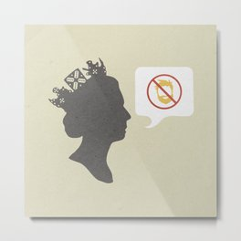 Facial hair will never go down with the queen/Nice, nice, very nice mix Metal Print
