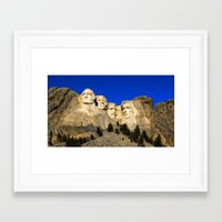rushmore Framed Art Prints featuring Mount Rushmore  by Brett Knight