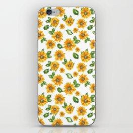 Watercolor sunflower iPhone Skin