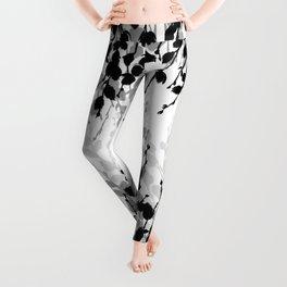 Elegant Pussywillow | Black • White • Gray Leggings