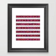 Tribal America {STRIPES} Framed Art Print