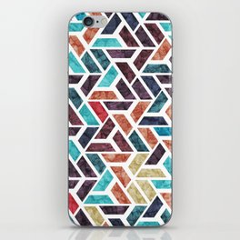Seamless Colorful Geometric Pattern XVI iPhone Skin