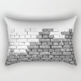 Brick Wall Grayscale Rectangular Pillow