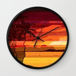 Tropical Glitchset Wall Clock