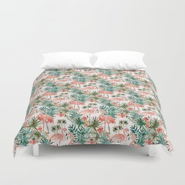 FLAMINGO PARADISE Duvet Cover