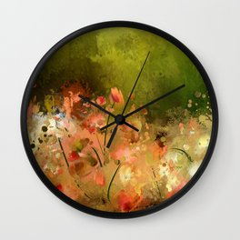 Flowers Of Corfu Wall Clock