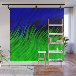 stripes wave pattern 2 with lines vtgi Wall Mural