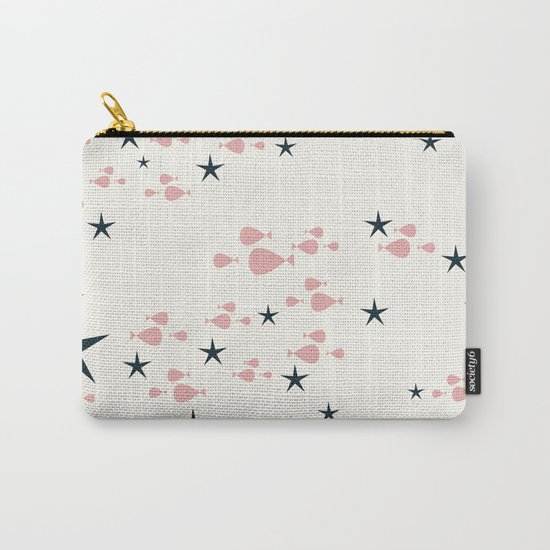 fish and stars pink Carry-All Pouch