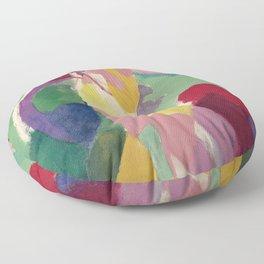 La Parisienne - Robert Delaunay - Art Poster Floor Pillow