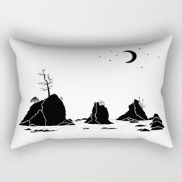Three Graces Black on white Rectangular Pillow