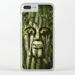 The Tremendous Mr. Treebley Clear iPhone Case