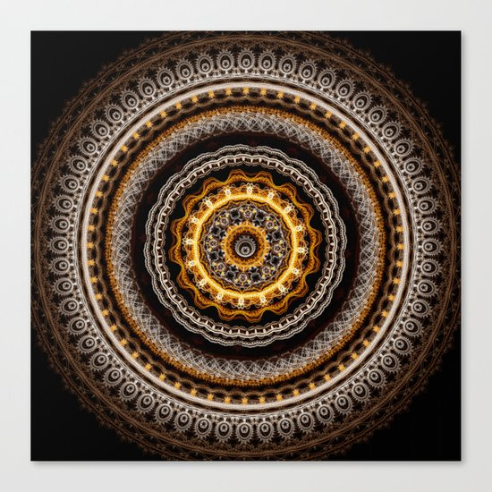 Mandala with tribal patterns Canvas Print