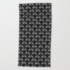 Bicycle Pattern Beach Towel