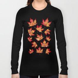 Maple leaves white Long Sleeve T-shirt