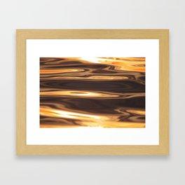 Water Sunset Pattern Framed Art Print