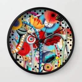 Colorful Happy Days  Wall Clock