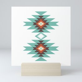 Southwest Santa Fe Geometric Tribal Indian Abstract Pattern Mini Art Print