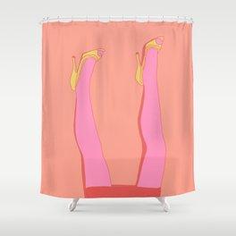 Leggy Blonde Shower Curtain